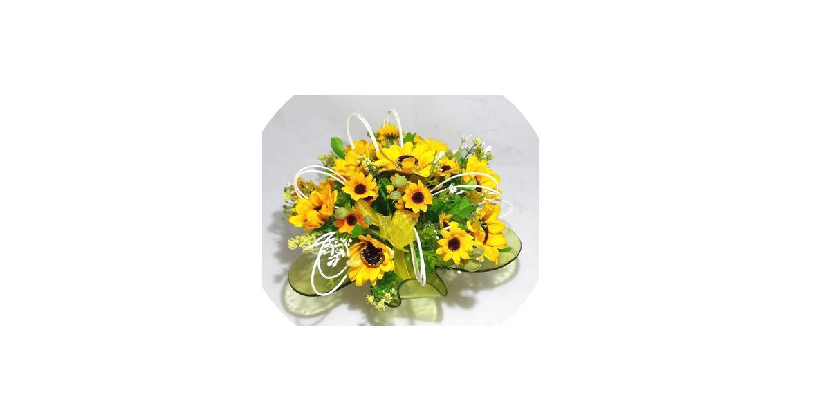 finto bouquet ispirato ai girasoli