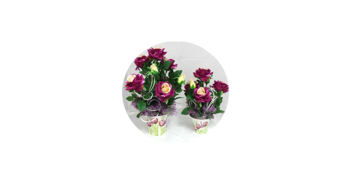 rose finte dai colori vivaci